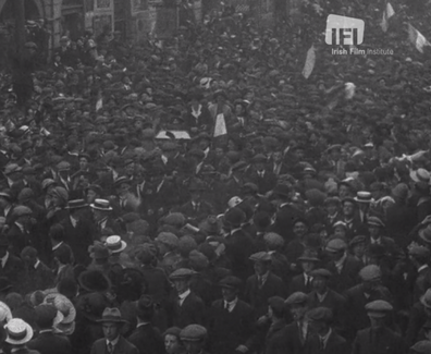 27 Irish Crowds Welcome Markievicz After Release-