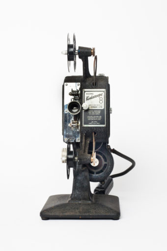 This later model in the Kodascope series was manufactured in the 1930s to project the new 8mm format, which arrived in 1932. Kodascope library titles were also released on this cheaper new 8mm format.