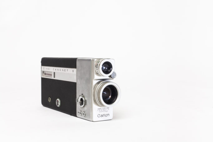 Marketed in 1963, this camera fulfilled Canon's goal of reducing the price of 8mm cine cameras. Its innovative electric motor is neatly contained in an elegant slim design, allowing it to slip into a coat pocket.