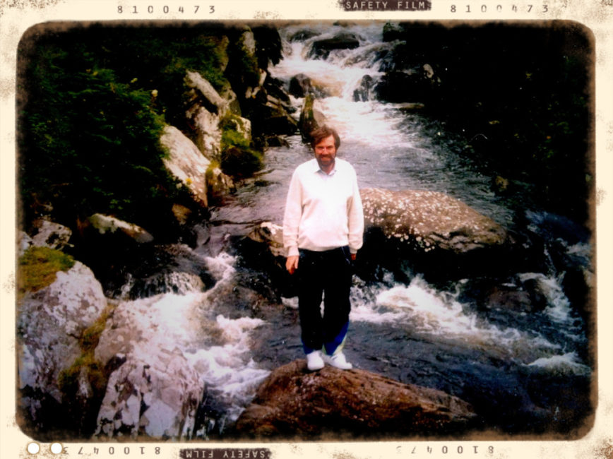 Image of spiritual healer Tony Hogan, the subject of the documentary The Invisible World (1998)