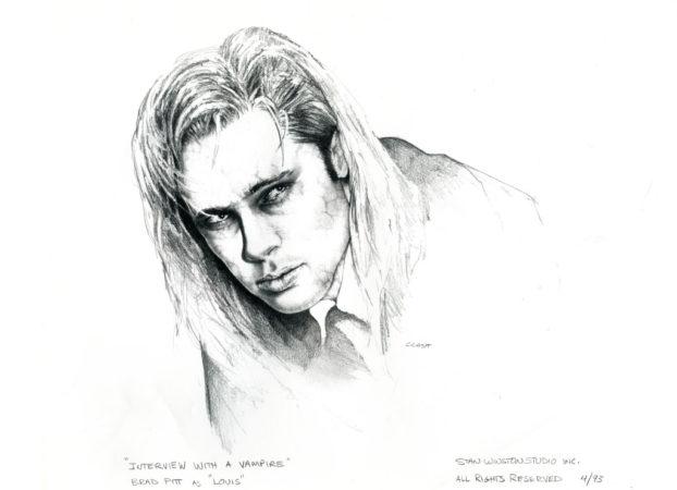 Sketch of Brad Pitt as Louis
