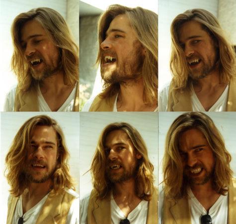 Brad Pitt with fangs