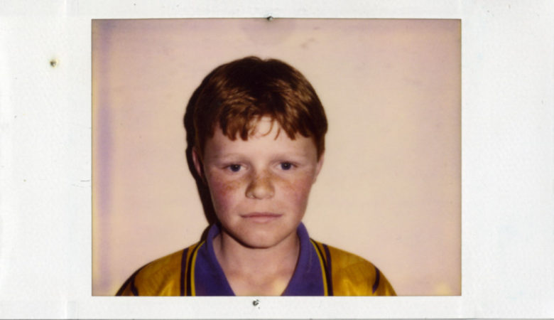 Casting polaroid shot of Eamon Owens for The Butcher Boy