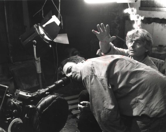Neil Jordan and Ian Wilson on set of The Crying Game