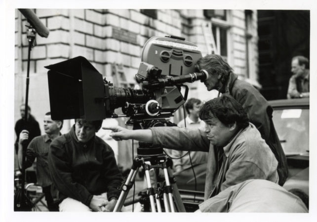 Neil Jordan on set of Michael Collins